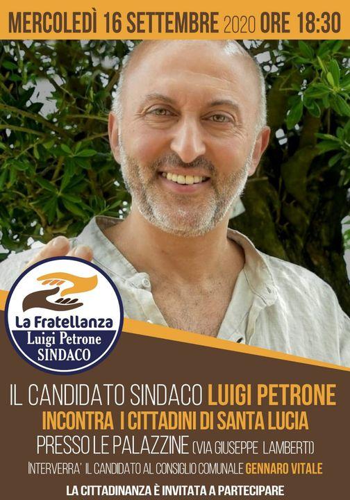 INCONTRO CON I CITTADINI: MERCOLEDì 16/09/2020 – frazione SANTA LUCIA Via Giuseppe Lamberti  ore 18:30